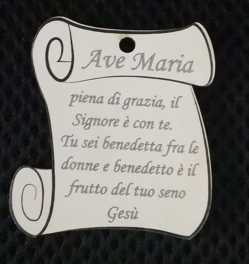 PERGAMENA ACCESSORIO AVE MARIA CM 5