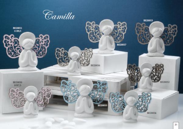 CAMILLA ANGELO PICCOLO CON ALI  CIELO 10X7.5