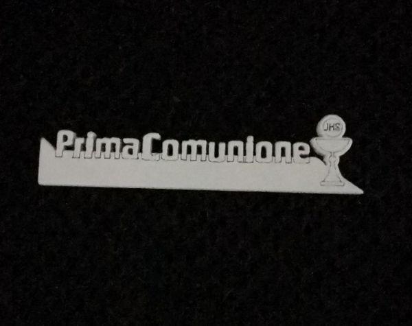 APPLICAZIONE PRIMA COMUNIONE PC. LEGNO 6.5X1.5 BIANCO