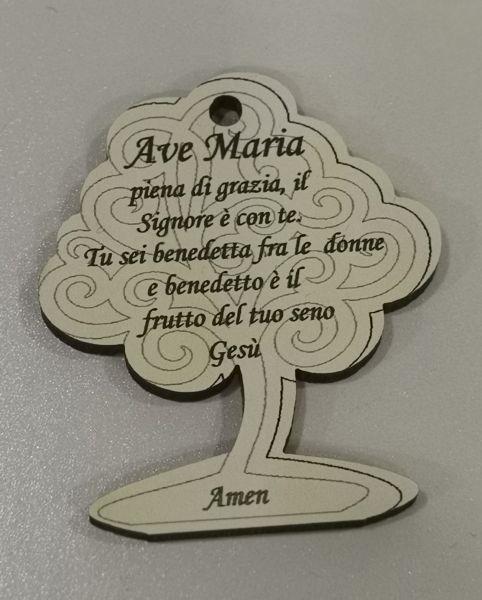 MINIMI ACC.ALBERO 4.5X4 PREGHIERA AVE MARIA IN LEGNO
