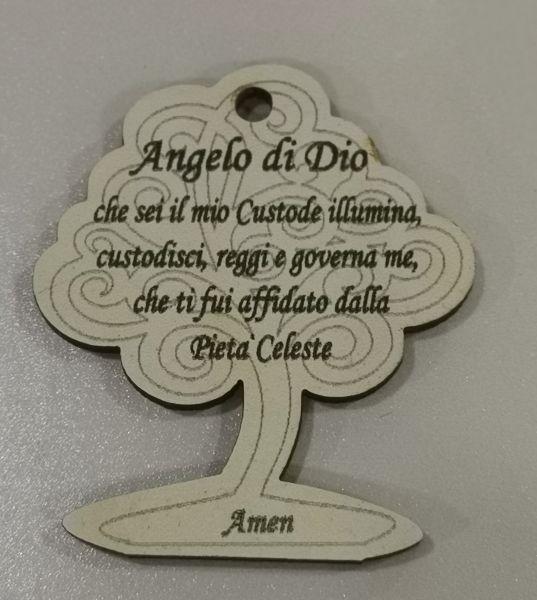 MINIMI ACC.ALBERO 4.5X4 PREGHIERA ANGELO IN LEGNO